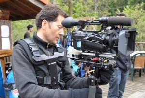 L'équipe de France 3 en plein tournage
