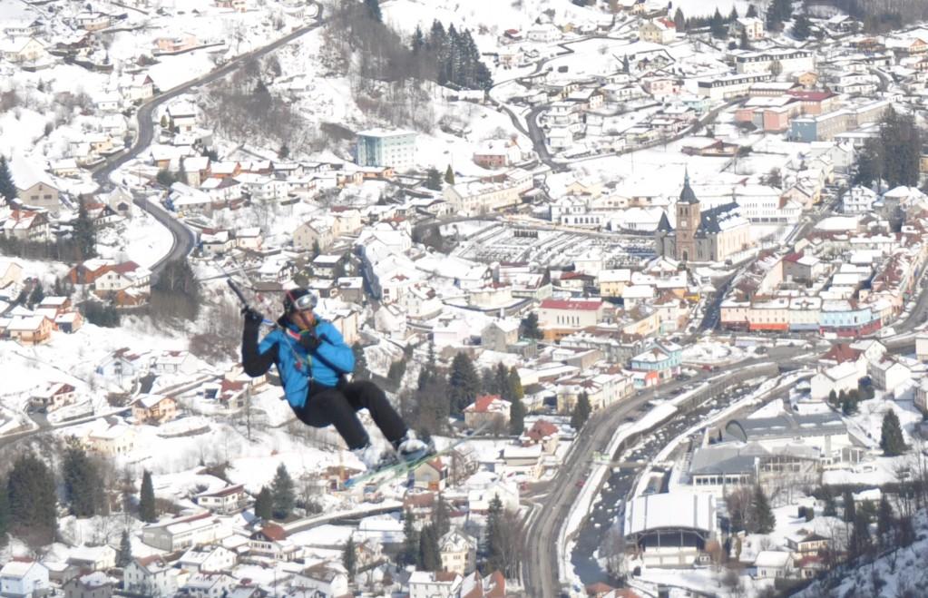 Snowkite sur La Bresse