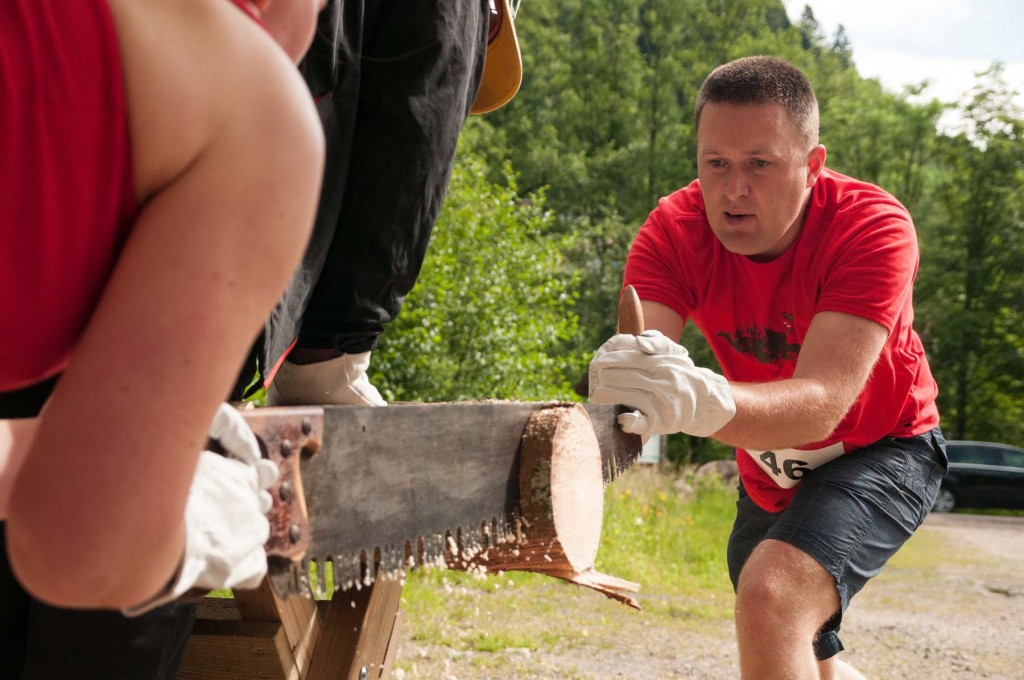 L'épreuve sciage de bois